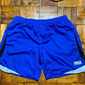 NBA blue shorts with pockets size: 2XL